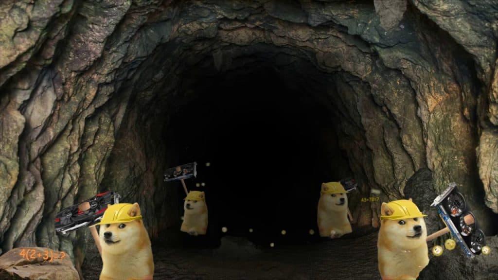 шахты для добычи догикоина